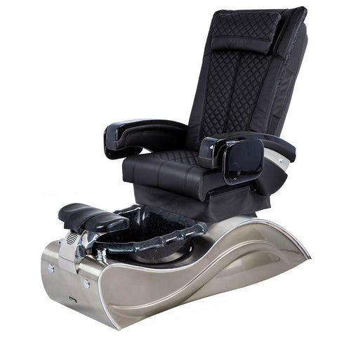 Image of Osaki Pedicure Chairs Black / Without Jet / Stainless Steel Solid Lulu with Stainless Steel Base