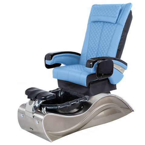 Image of Osaki Pedicure Chairs Blue / Without Jet / Stainless Steel Solid Lulu with Stainless Steel Base