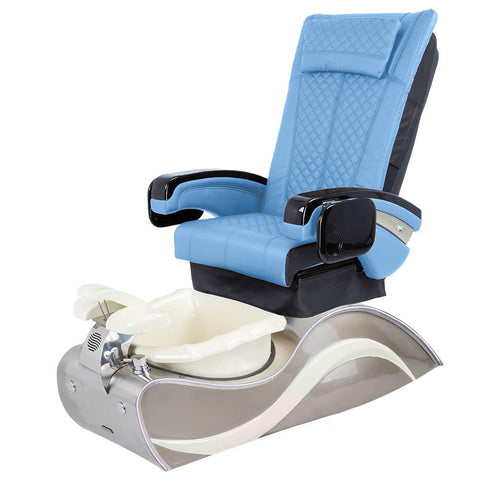 Image of Osaki Pedicure Chairs Blue / Without Jet / Stainless Steel White Line Lulu with Stainless Steel Base