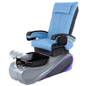 Osaki Pedicure Chairs Blue / Without Jet / Tom Spa Grey Lulu with Tom Spa Base