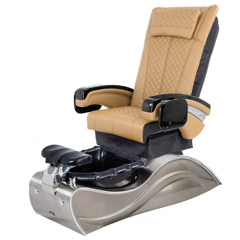 Image of Osaki Pedicure Chairs Brown / Without Jet / Stainless Steel Solid Lulu with Stainless Steel Base