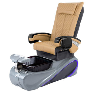 Osaki Pedicure Chairs Brown / Without Jet / Tom Spa Grey Lulu with Tom Spa Base
