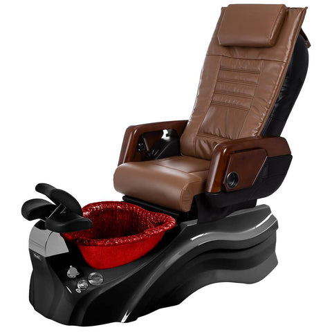 Image of Osaki Pedicure Chairs Capucchino / Primo with Vent Blavk / Red / With Jet Free OS-OP-05 with Primo Base Set