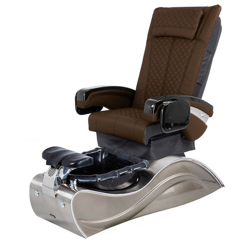 Image of Osaki Pedicure Chairs Capuccino / Without Jet / Stainless Steel Solid Lulu with Stainless Steel Base