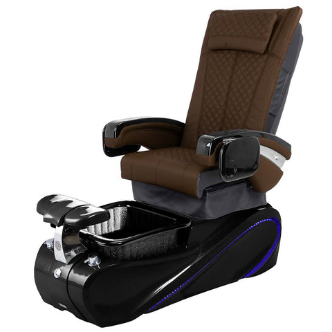 Image of Osaki Pedicure Chairs Capuccino / Without Jet / Tom Spa Black Lulu with Tom Spa Base