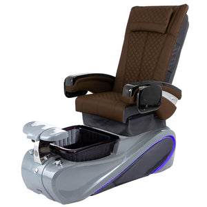 Osaki Pedicure Chairs Capuccino / Without Jet / Tom Spa Grey Lulu with Tom Spa Base