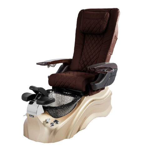 Image of Osaki Pedicure Chairs Capuchinno / Rosegold / Black Clear / With Jet Free OS-Primo With Base