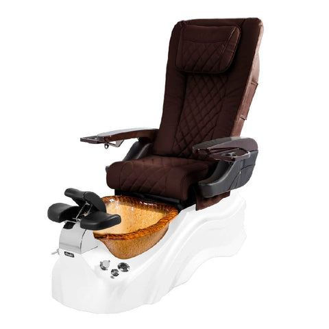 Image of Osaki Pedicure Chairs Capuchinno / White / Amber Clear / With Jet Free OS-Primo With Base
