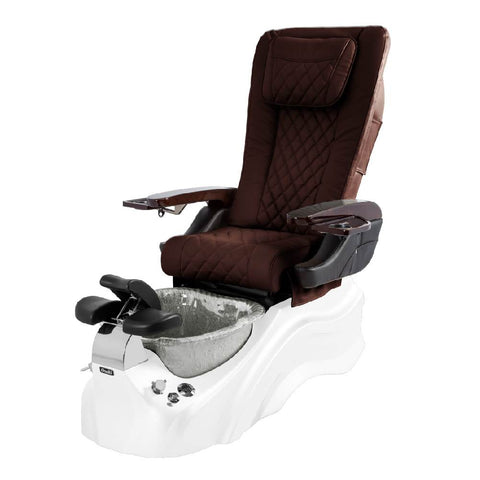 Osaki Pedicure Chairs Capuchinno / White / Silver / With Jet Free OS-Primo With Base