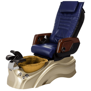 Osaki Pedicure Chairs Navy / Primo with Vent Gold / Gold / With Jet Free OS-OP-05 with Primo Base Set