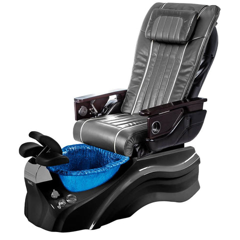 Image of Osaki Pedicure Chairs Pewter / Primo with Vent Black / Blue / With Jet Free OS-OP-04 with Base Set