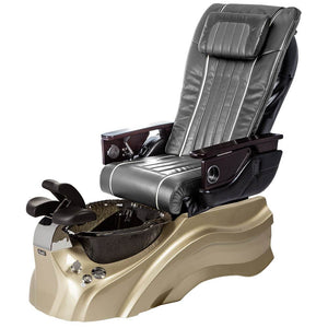 Osaki Pedicure Chairs Pewter / Primo with Vent Gold / Black / With Jet Free OS-OP-04 with Base Set