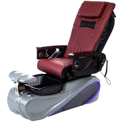 Osaki Pedicure Chairs Red / Tom Spa Grey / With Jet Free OS-OP-06 with Base Set