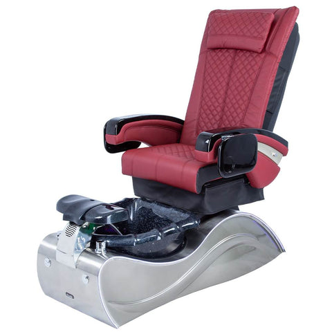 Image of Osaki Pedicure Chairs Red / Without Jet / Stainless Steel Solid Lulu with Stainless Steel Base
