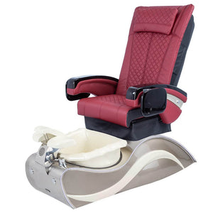 Osaki Pedicure Chairs Red / Without Jet / Stainless Steel White Line Lulu with Stainless Steel Base