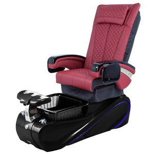 Osaki Pedicure Chairs Red / Without Jet / Tom Spa Black Lulu with Tom Spa Base