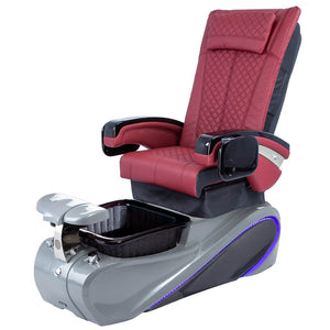 Osaki Pedicure Chairs Red / Without Jet / Tom Spa Grey Lulu with Tom Spa Base
