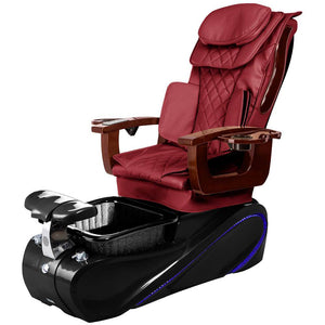 Osaki Pedicure Chairs Wine / Black / Without Jet FREE Elina with Tom Spa Base