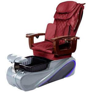 Osaki Pedicure Chairs Wine / Grey / Without Jet FREE Elina with Tom Spa Base