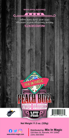 Peach Buzz Wine Slushie Mix