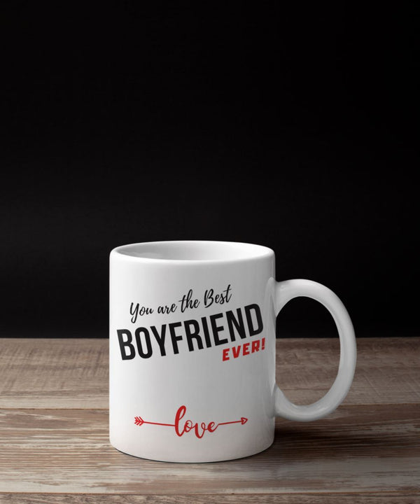 Coffee Mug with love message: You are the best BOYFRIEND ever! Coffee Mug Regalos.Gifts