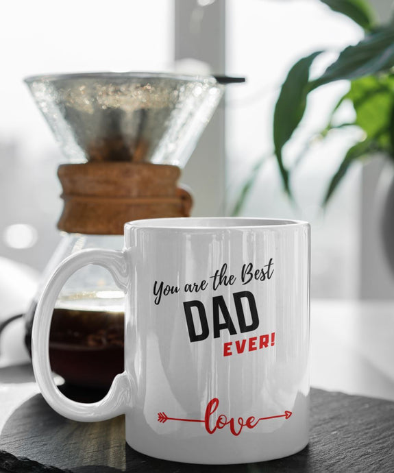 Coffee Mug with love message: You are the best DAD ever! Coffee Mug Regalos.Gifts
