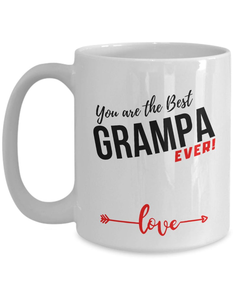 Coffee Mug with love message: You are the best GRAMPA ever! Coffee Mug Regalos.Gifts