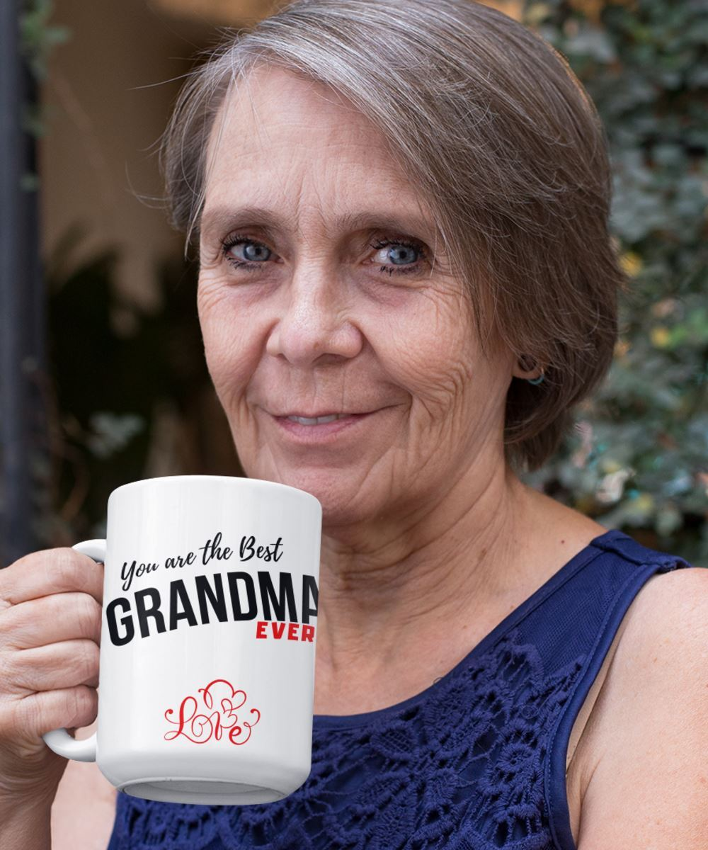 Coffee Mug with love message: You are the best GRANDMA ever! Coffee Mug Regalos.Gifts