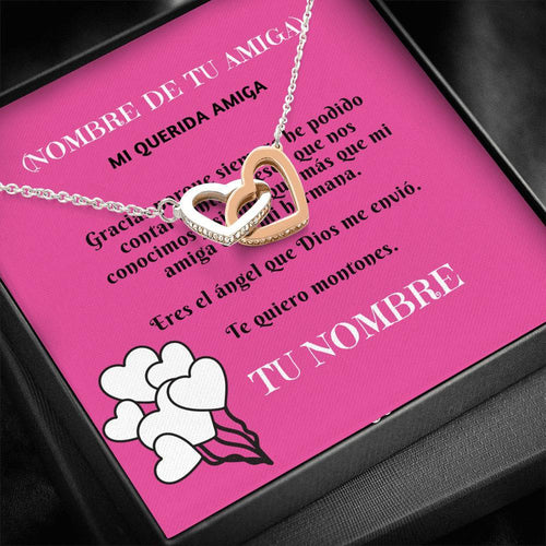 Collar para mi Amiga: Mi querida amiga- Collar Dos corazones Jewelry ShineOn Fulfillment