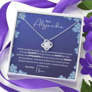 Collar para Regalo para Hija, Nieta, Amiga. Collar Nudo Amor. Personalizable Jewelry ShineOn Fulfillment