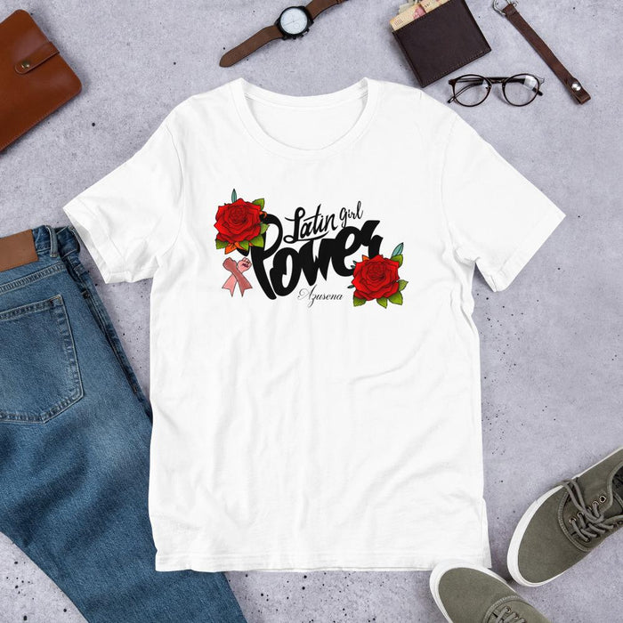 Latin Girl Power Camiseta de manga corta unisex T-Shirt Regalos.Gifts White XS
