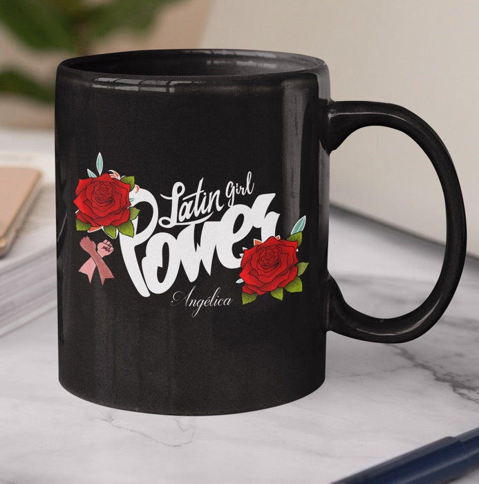 Latin Girl Power Taza Personalizada Coffee Mug Regalos.Gifts 11oz Mug Black