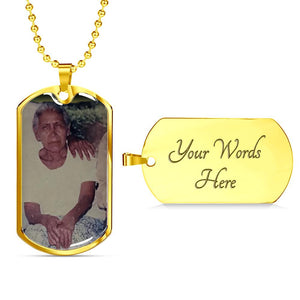 Personalizado María 2 Jewelry ShineOn Fulfillment Dog Tag with Military Ball Chain (18k Yellow Gold Finish) Yes