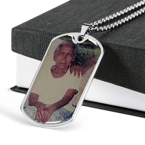 Personalizado María 2 Jewelry ShineOn Fulfillment Dog Tag with Military Ball Chain (.316 Surgical Steel) No