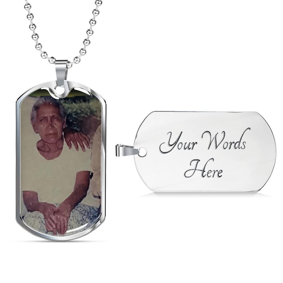 Personalizado María 2 Jewelry ShineOn Fulfillment Dog Tag with Military Ball Chain (.316 Surgical Steel) Yes