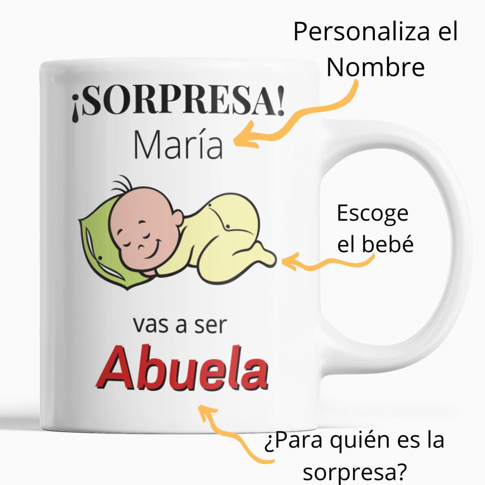¡Sorpresa! Vas a ser .... ? Coffee Mug Regalos.Gifts 11oz White
