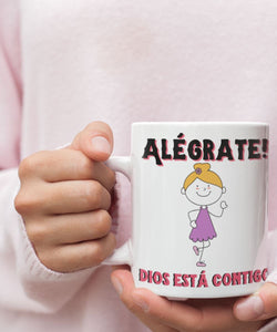 Taza de Café: Alégrate… Coffee Mug Regalos.Gifts