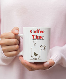 Taza de Café: Coffee Time, Do not disturb Coffee Mug Regalos.Gifts