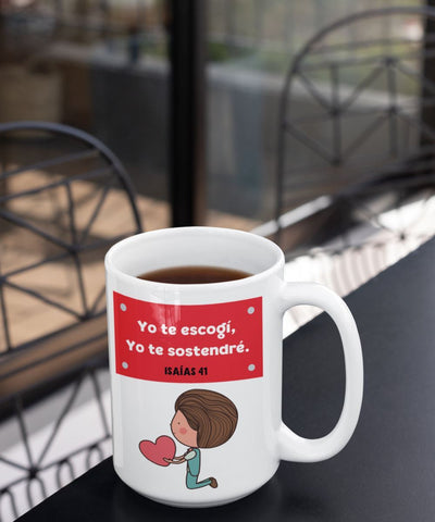 Taza de Café de 15 oz: Yo te escogí Coffee Mug Regalos.Gifts