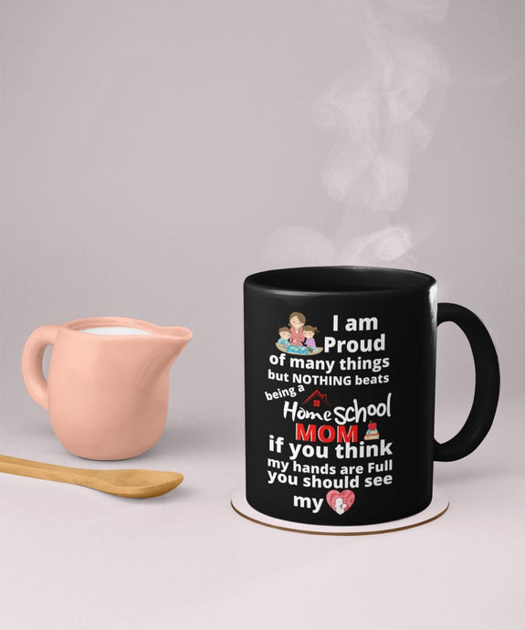 Taza Negra para Home School Mom Coffee Mug Regalos.Gifts