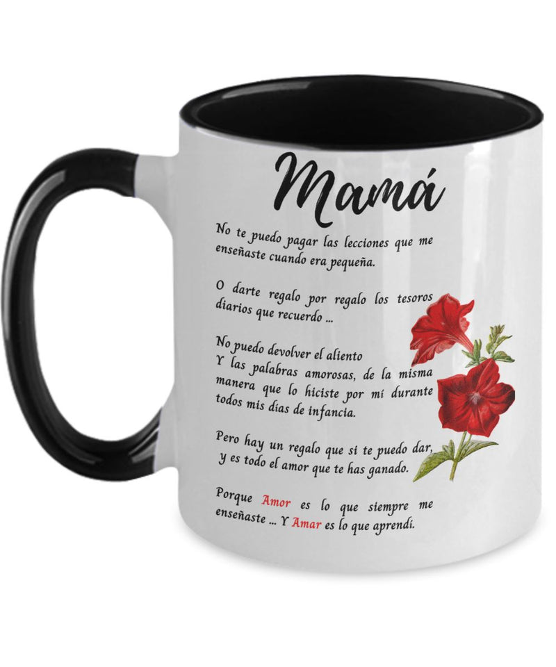 Taza Para mamá - 2 tonos - Te Amo mamá Coffee Mug Regalos.Gifts Two Tone 11oz Mug Black