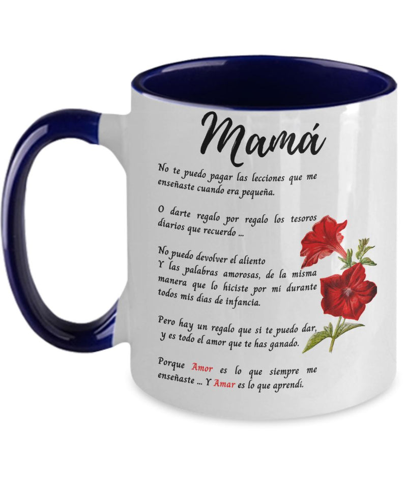 Taza Para mamá - 2 tonos - Te Amo mamá Coffee Mug Regalos.Gifts Two Tone 11oz Mug Navy