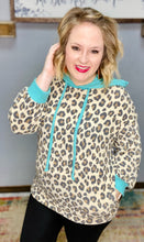 Load image into Gallery viewer, Joslynn Mint/Leopard Top