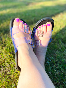 Adjustable Rubber Sandals (Multiple Colors)