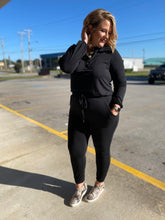 Load image into Gallery viewer, Black Jumpsuit Jogger