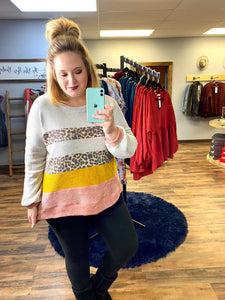 Macey Chunky Colorblock Sweater