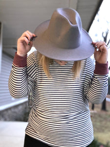 Wide Brimmed Fedora Hats (Multiple Colors)