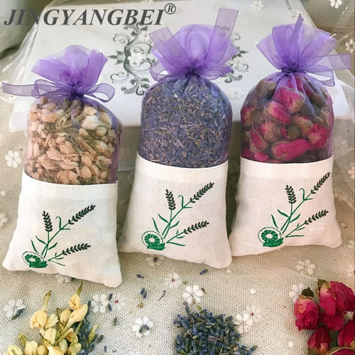 Natural Rose, Jasmine and Lavender Dried Flower Sachet