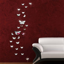 Load image into Gallery viewer, Butterfly Mirror Wall Stickers