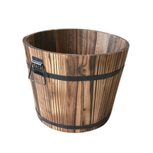 Load image into Gallery viewer, Wooden Barrel Flower Pot